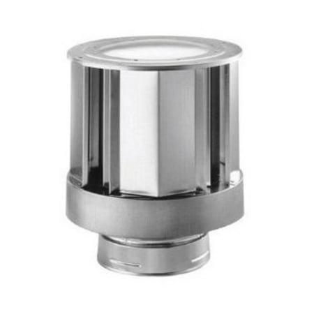 "DuraVent 46DVA-VCH 4"" Inner Diameter DirectVent Pro Direct Vent Pipe - Double Wall - High-Wind Termination Cap"