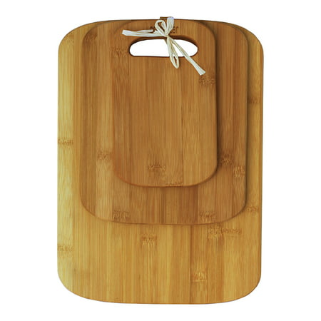 Laser Engraved Bamboo Cutting Board - Oceanstar 3-Piece Bamboo Cutting Board Set