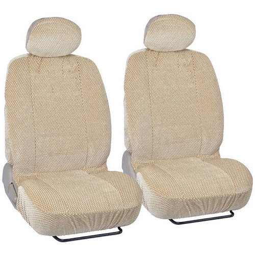 BDK Scottsdale Car Seat Covers, Premium Cloth Front Pair, 4pc, For Car/SUV