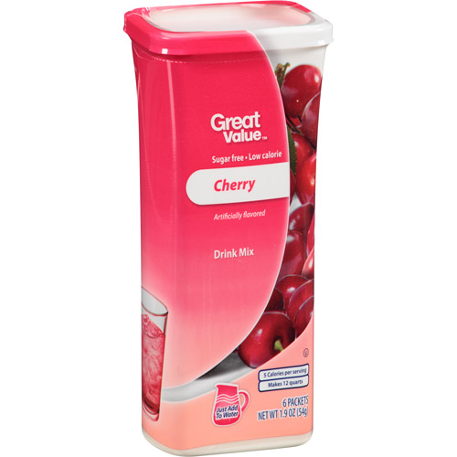Great Value: Cherry Drink Mix, 1.9 Oz