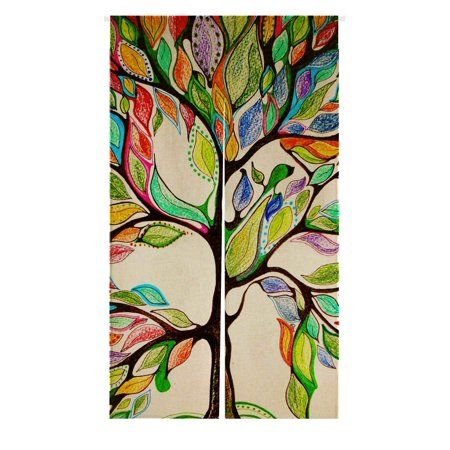 - GCKG Tree of Life Japanese Noren Curtain,Tree of Life Gorgeous Like Leather Doorway Curtain Door Curtain Entrance Curtain Cotton Linen Curtain Size 85x150cm