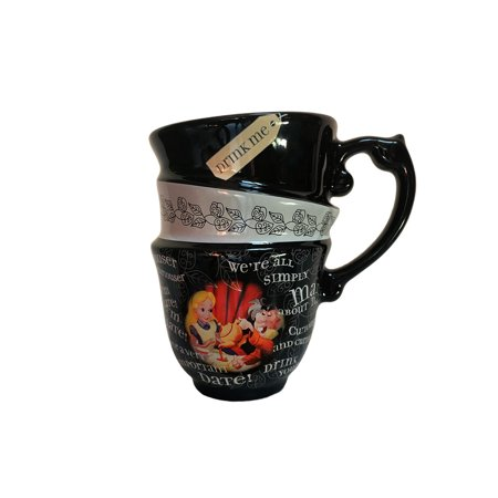 Disney Glass Cups (Disney Parks Exclusive Alice in Wonderland Triple Stack Quotes Ceramic Cup)