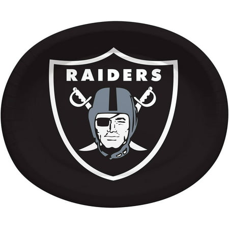 Oakland Raiders Oval Platters, 8-Pack