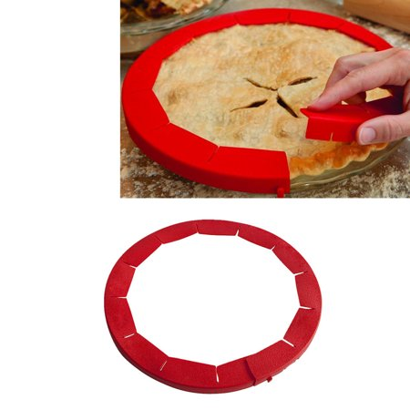 Adjustable Silicone Pie Crust Shield Silicone Fit 8.5Inch - 11.5Inch Rimmed Dish