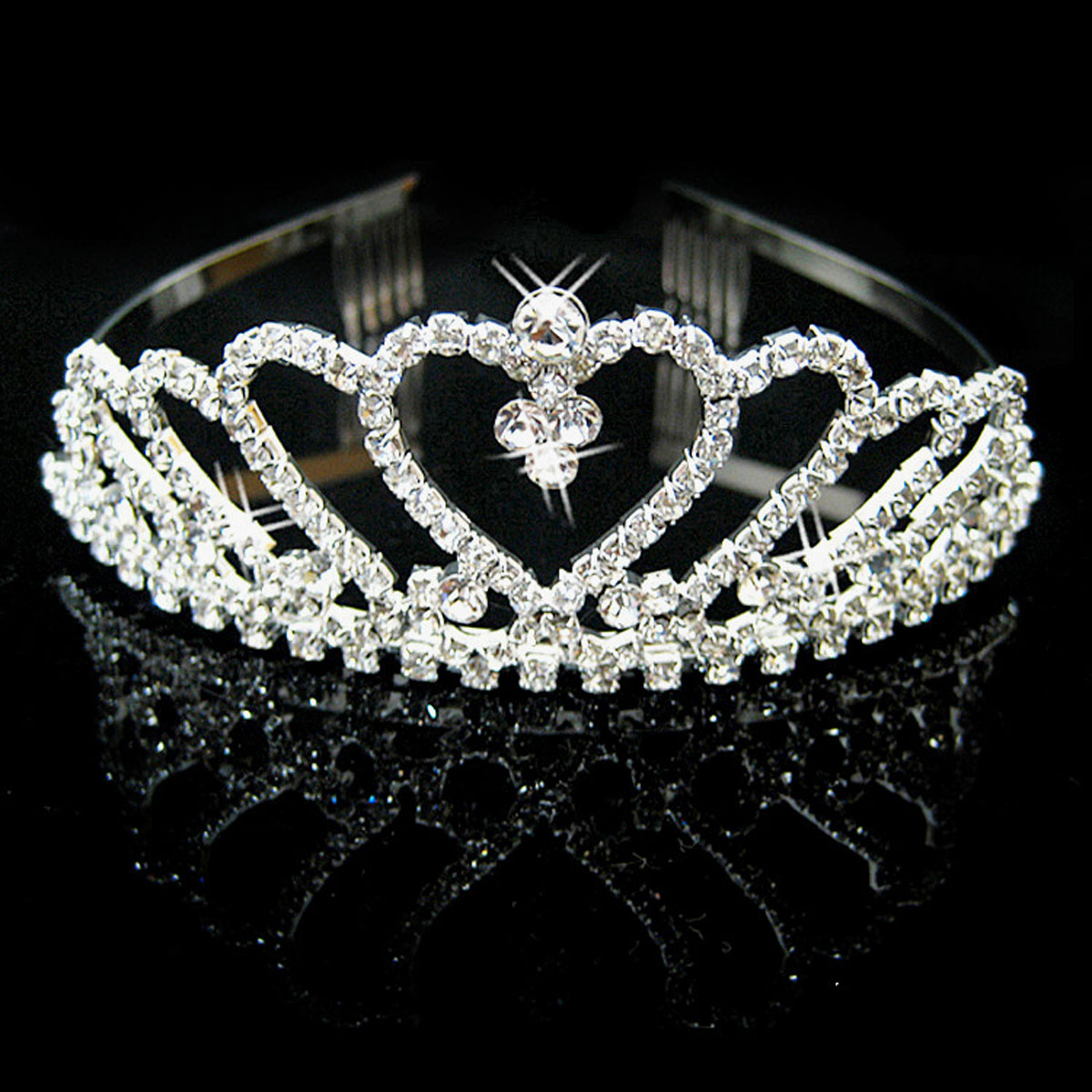 Simplicity Pageant Tiara and Crown Rhinestones Crystal Bridal Wedding, 957