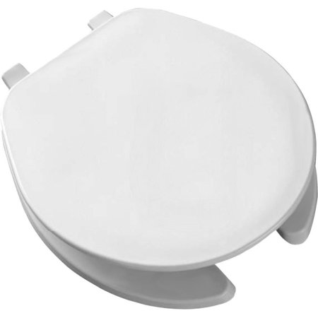 75 000 Round Open Front Toilet Seat, White by, Bemis Mayfair 75 000 Round White Commercial Open Front Plastic Toilet Seat By Bemis Bemis Round Open Front