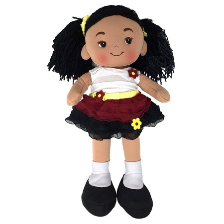 Nadia Cloth Doll, Rag Doll, Dark Skin Tone, 16 - Rag Doll Tutorial Halloween
