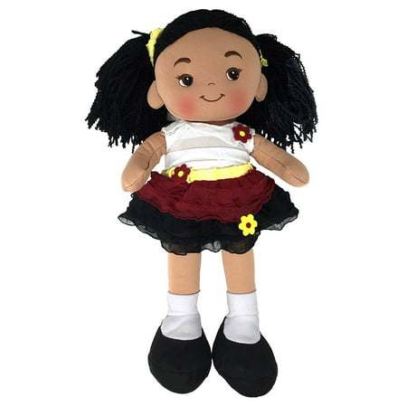 - Nadia Cloth Doll, Rag Doll, Dark Skin Tone, 16 Inch
