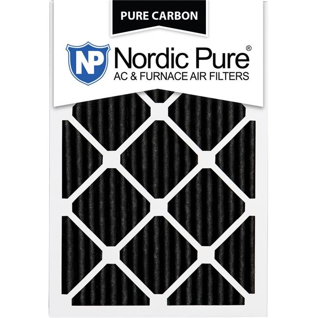Nordic Pure 24/_3//4x24/_3//4x1 MERV 8 Pure Carbon Pleated Odor Reduction AC Furnace Air Filters 1 Pack