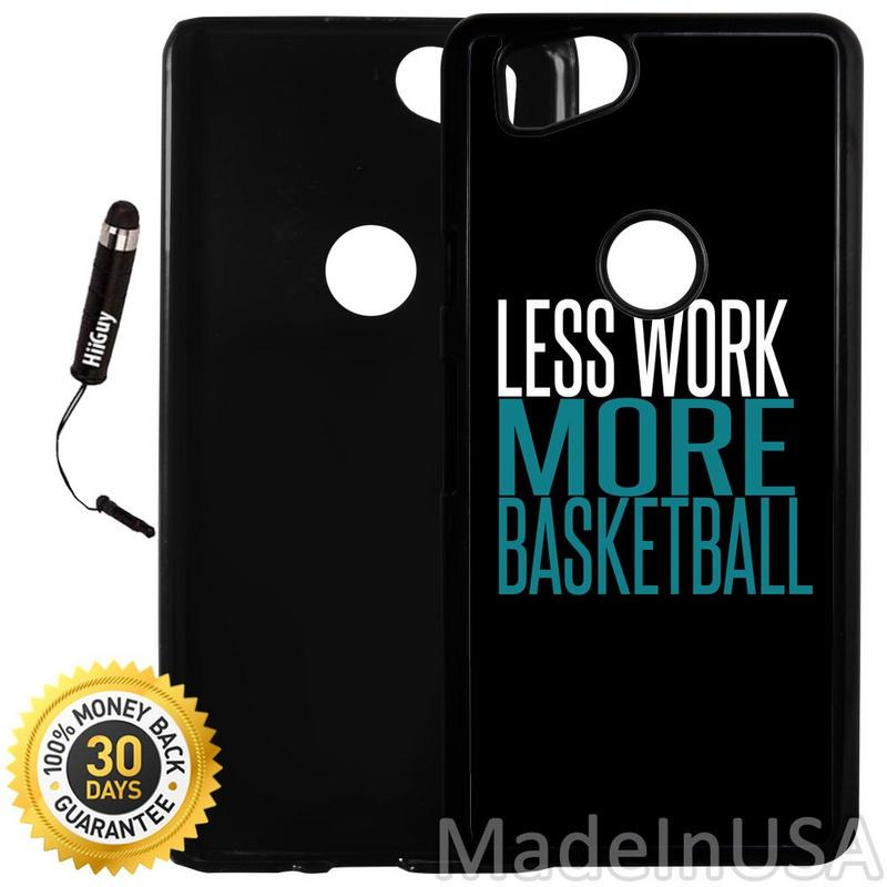 Custom Google Pixel 2 Case (Basketball Sport Quote) Plastic Black Cover Ultra Slim | Lightweight | Includes Stylus Pen by Innosub