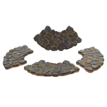 Department 56 Accessory CURVED STONE PATH Set Of 4 Village Display 52767