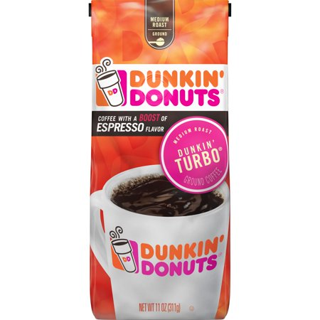 Dunkin' Donuts Dunkin' Turbo Ground Coffee, Medium Roast, 11-Ounce ()