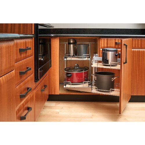 Kitchen Cabinet Organizers Walmart Rev A Shelf 2 Tier Blind Corner CabiOrganizer   Walmart.