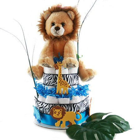 Jungle Basket - It's a Jungle out There Diaper Cake
