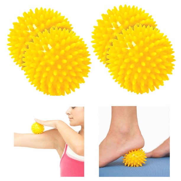 4 Pc Spiky Massage Ball Set Foot Massage Acupressure ...