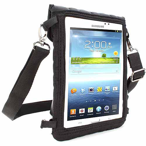 "USA Gear 7"" Tablet Sleeve Case with Touch Capacitive Screen Protector and Adjustable Shoulder Strap - Use with Acer, Apple, Dell, Samsung, ASUS, Toshiba and More Tablets"