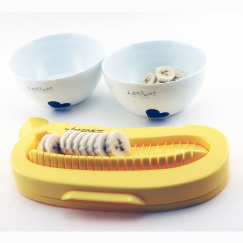 BergHOFF International Lover 2 Piece Cereal Bowl Set with Banana Cutter