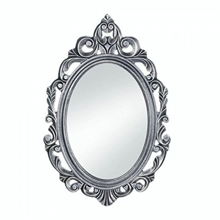 Silver Royal Crown Oval Mirror, Wood By Accent Plus from USA