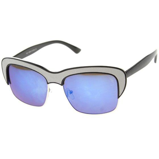 8eacf60a54 sunglassLA - Womens Semi-Rimless Sunglasses With UV400 Protected ...