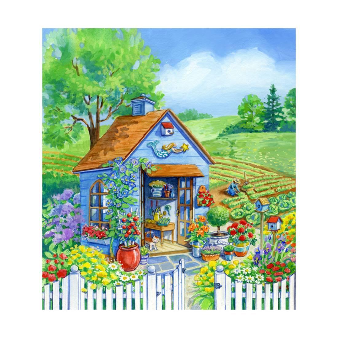 Garden Shed Print Wall Art By Geraldine Aikman