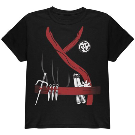 Halloween Red Clan Ninja Assassin Costume Youth T Shirt (Assassini Halloween)