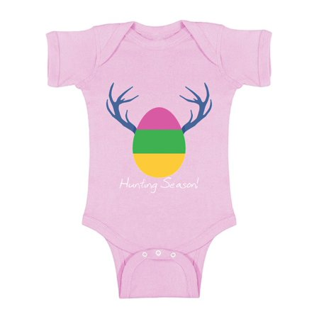 Buys Egg (Awkward Styles Hunting Season Baby Bodysuit Short Sleeve Easter Holiday One Piece Top Easter Outfit for Baby Girl Easter Egg One Piece for Baby Boy Easter Hunt Outfit First Easter Bodysuit for Baby )