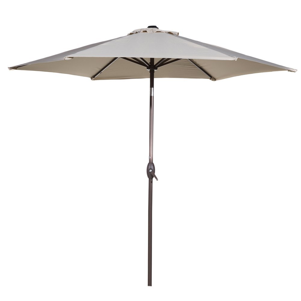 Abba Patio 9 Ft Market Outdoor Aluminum Table Patio Umbrella With Push  Button Tilt And