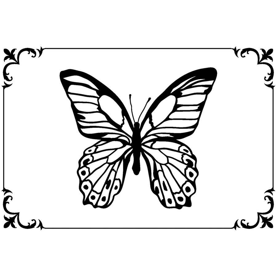 """Kaisercraft Embossing Folder, 4"""" x 6"""", Framed Butterfly"""