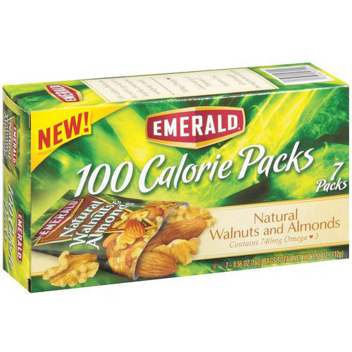 Emerald 100 Calorie Packs Walnuts & Almonds, 0.56 oz, 7 count