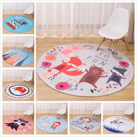 Moaere 5 Sizes Modern Round Soft Fluffy Floor Rug Anti-skid Shag Shaggy Area Rug Bedroom Dining Room Carpet Yoga Mat Child Play Mat Today's Special - Halloween Special 100 Floors Level 5