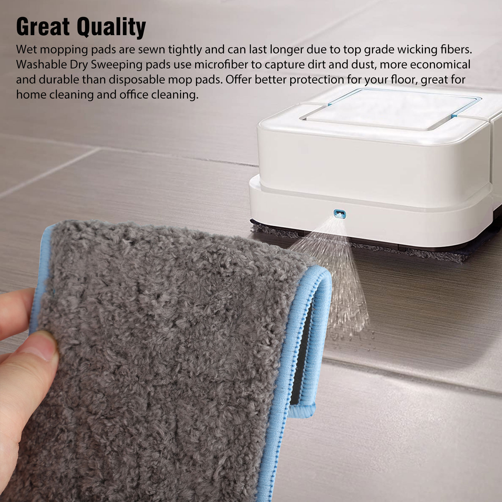 Wet /& Dry Mopping Pad Cloth Washable For iRobot Braava Jet M6 Robotic Home Damp