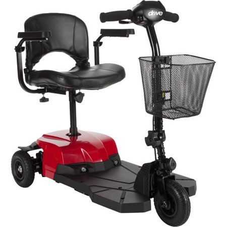 Drive Medical Bobcat X3 Compact Transportable Power Mobility Scooter  3 Wheel  Red