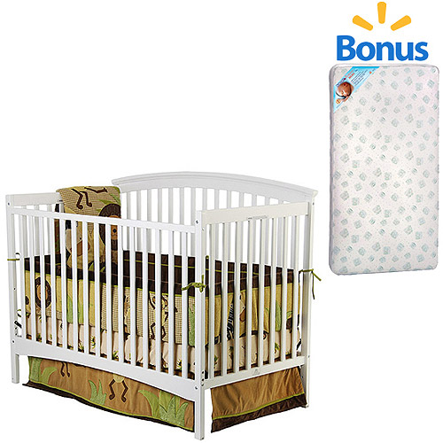 Dream On Me Eden 5-in-1 Convertible Crib and Mattress Value Bundle