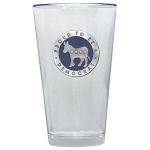 Democrat Colored Logo Pint Glass by