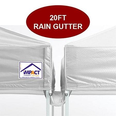 Impact Canopy 20 foot Canopy Rain Gutter, Tent Gutter, Shelter Gutter, White