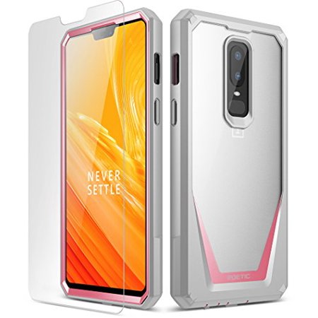 new style 88b65 0d795 OnePlus 6 Case, Poetic Guardian [Scratch Resistant] [360 Degree Protection]  Full-Body Rugged Clear Bumper Case [With Tempered Glass] for OnePlus 6 - ...