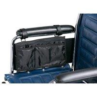 Secure Wheelchair or Walker Pouch / Bag, Black - One Year Warranty