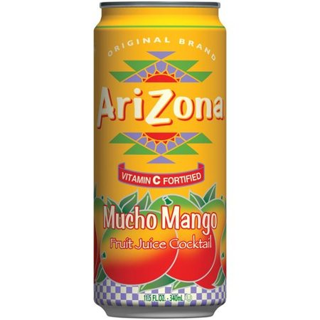 Mango Cocktail ((3 Pack) Arizona Juice Cocktail, Mucho Mango, 11.5 Fl Oz, 1)