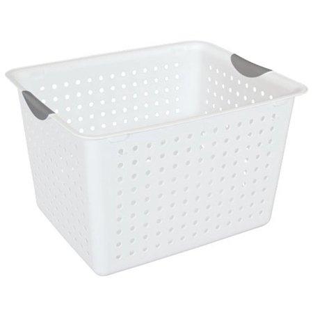 Sterilite Deep Ultra Storage Bin Organizer Basket 6 Pack