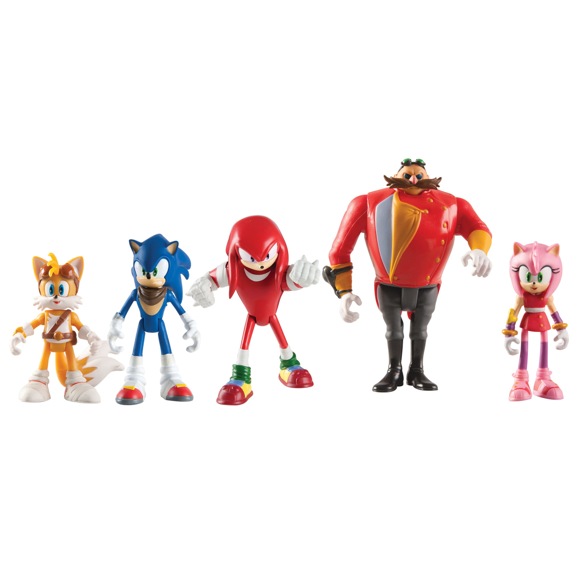 Sonic The Hedgehog Sonic Boom Multi Figure Pack Articulated Action Figure Set 5 Ct Walmart Com Walmart Com
