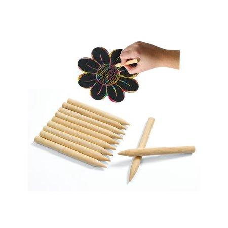 Colorations Scratch Designs Jumbo Wooden Art Sticks - Set of 48 (Item #