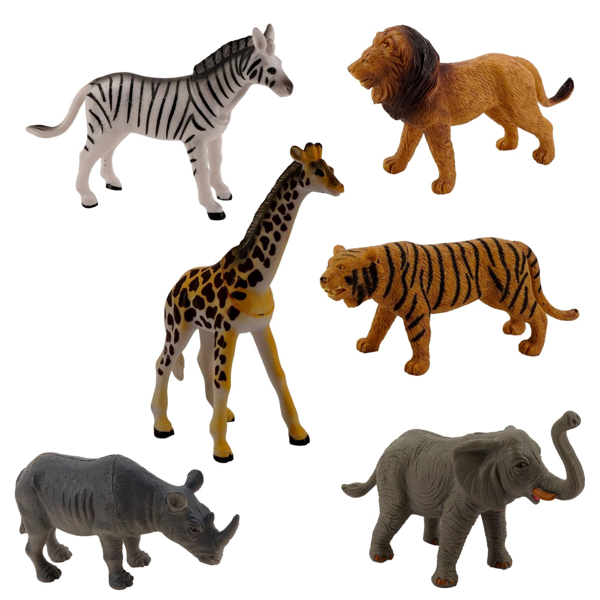 ArtCreativity Assorted Animal Noses for Kids Set of 12 Alligator and More Fun Favors and Goodie Bag Fillers for Children Includes Elephant Zoo and Safari Birthday Party Supplies Rhino Pig