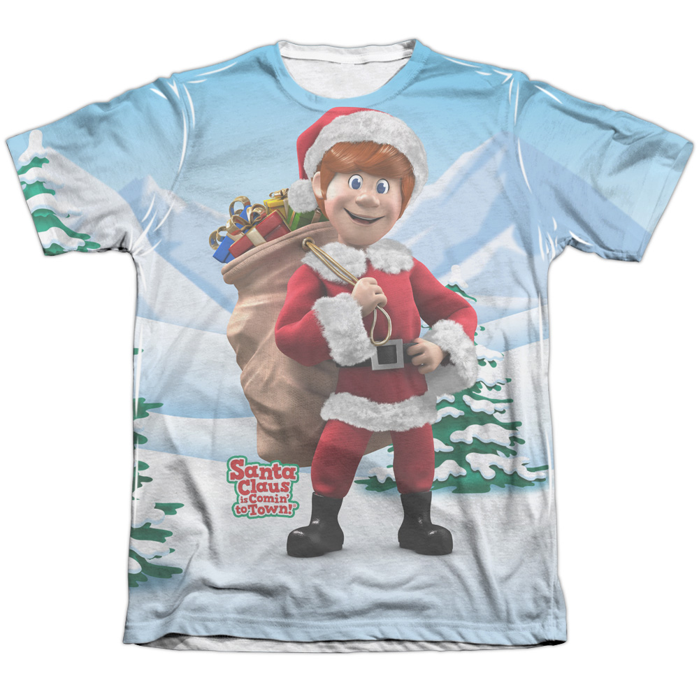 Santa Claus Is Comin To Town Helpers Mens Sublimation Shirt