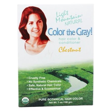 Color The Gray Hair Color & Conditioner Kit Chestnut - 7 fl. oz. by Light Mountain Natural (pack of 2)