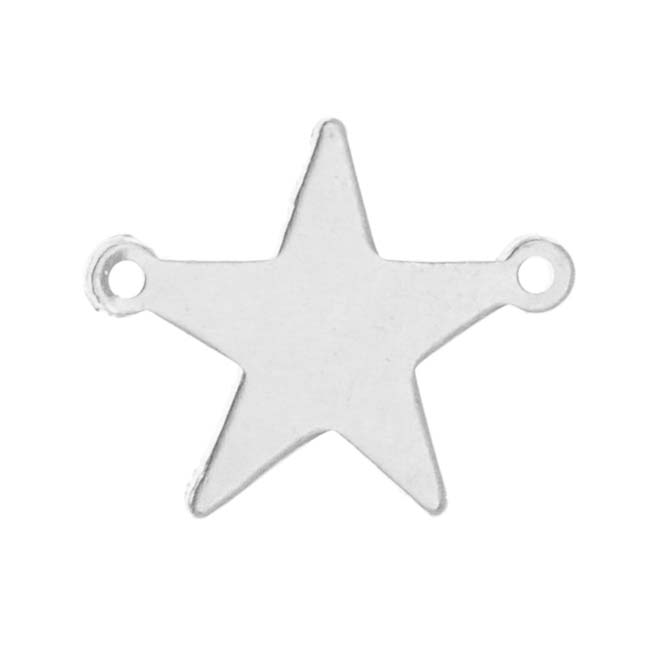 Sterling Silver Stamping Blank, Star Connector 16mm, 1 Piece, Silver