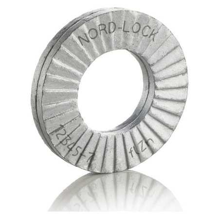 NORD-LOCK 1539 Lock Washer, Fits M18, 0.13Th, Pk 2