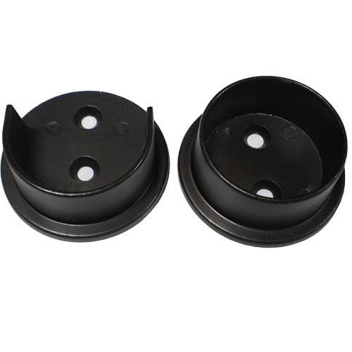 """Nuk3y Heavy Duty Metal Steel Closet Pole Socket Set 1-1/2"""" (White)"""