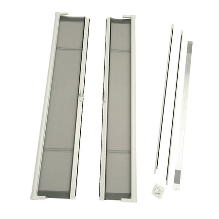 Retractable Screen Door (ODL Brisa White Standard Double Door Single Pack Retractable Screen for 80
