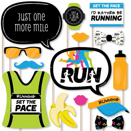 Set The Pace - Running - Track, Cross Country or Marathon Party Photo Booth Props Kit - 20 Count](Country Photo Booth Props)