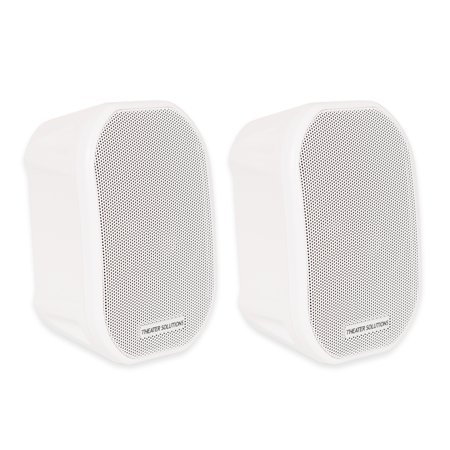 Theater Solutions TS38W Mountable Indoor / Outdoor Speakers White Bookshelf